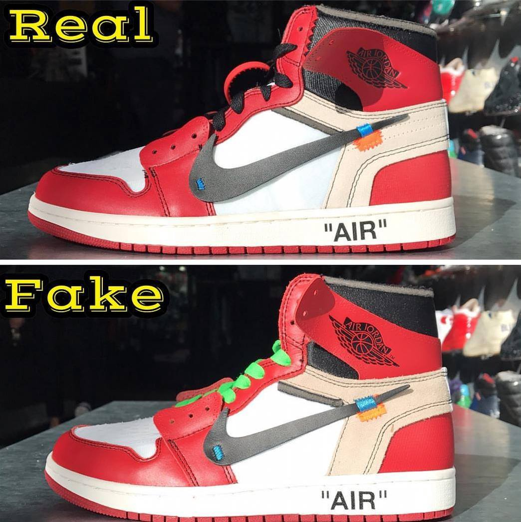 Next To Real Retro S Fake Retro S: OFF WHITE X JORDAN 1s. REAL VS FAKE