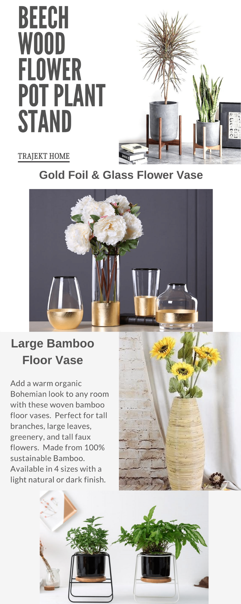 Buy Flower Vases online at low prices. Shop from a wide range of wooden ceramic flower vase metal and glass flower vase at TrajektHome. & Buy Wooden Metal and Ceramic Flower Glass Vase Online