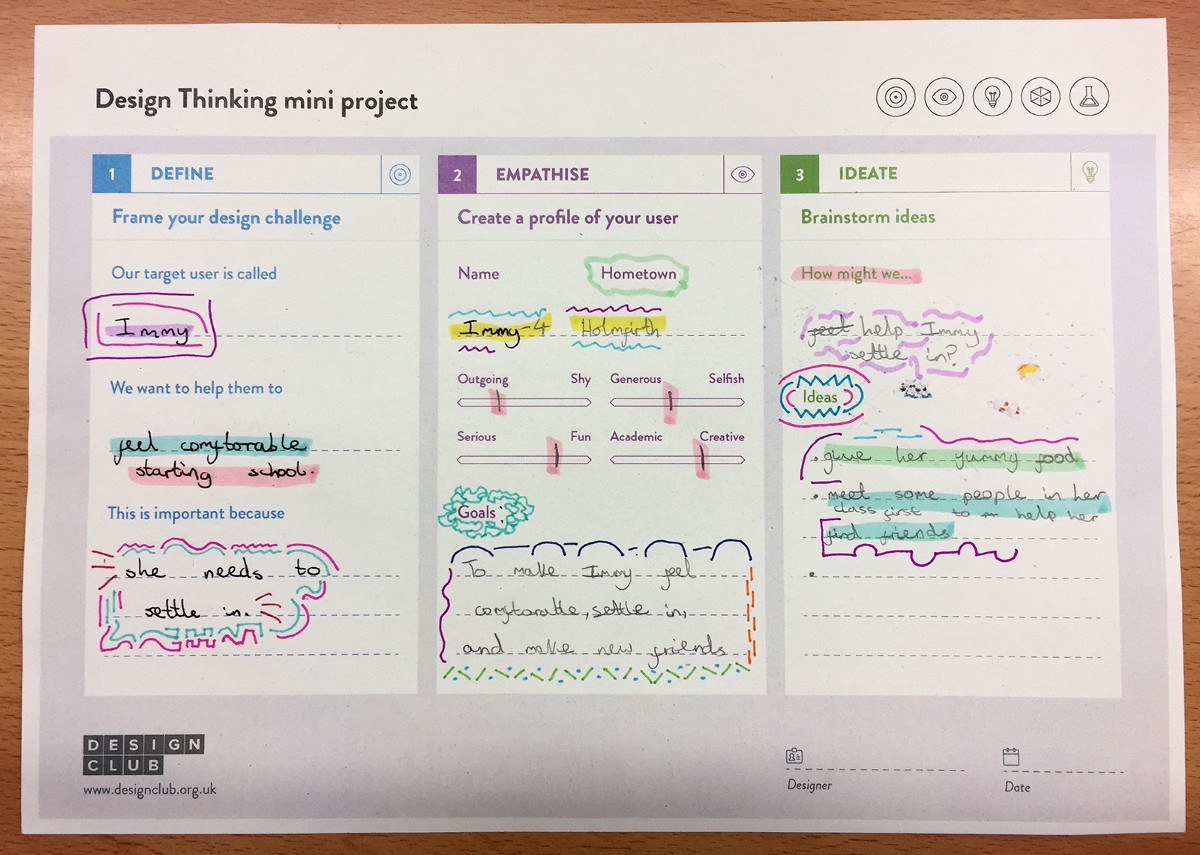design club session notes helping kids feel comfortable going to a