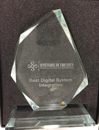 """WEB FINANCIAL GROUP WINS """"BEST DIGITAL SYSTEM INTEGRATION"""" RECOGNITION AT THE SYSTEMS IN THE CITY AWARDS"""