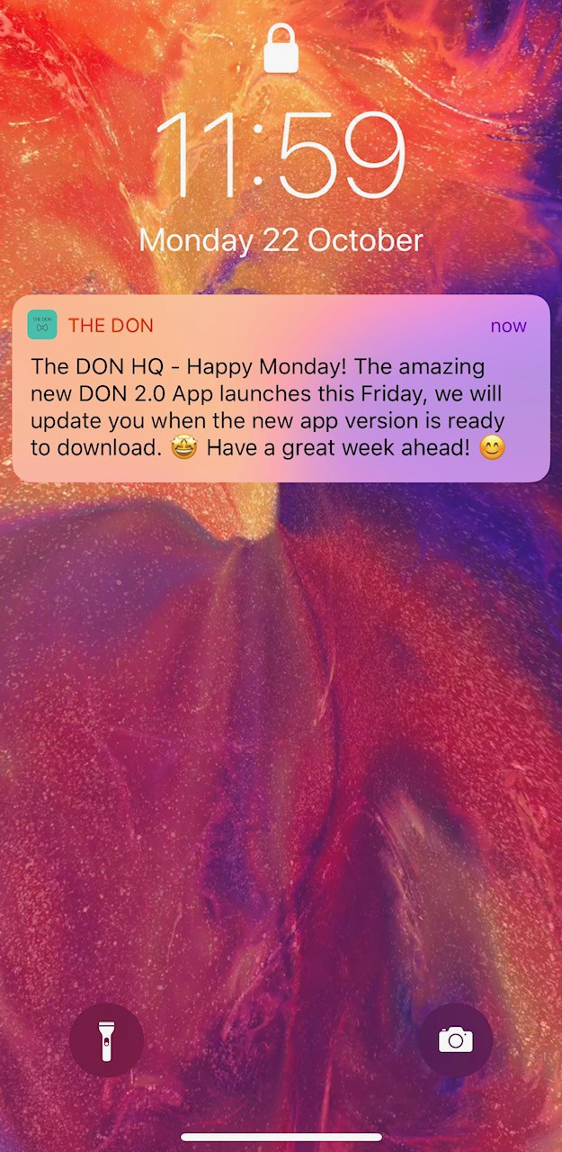 The DON 2 0 launch at TechDay on Friday 26th Oct 🚀