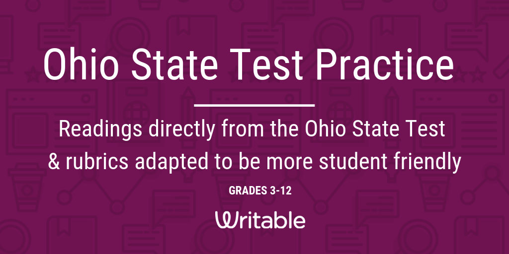 New: Ohio State Test Practice Writing Assignments – Writable – Medium