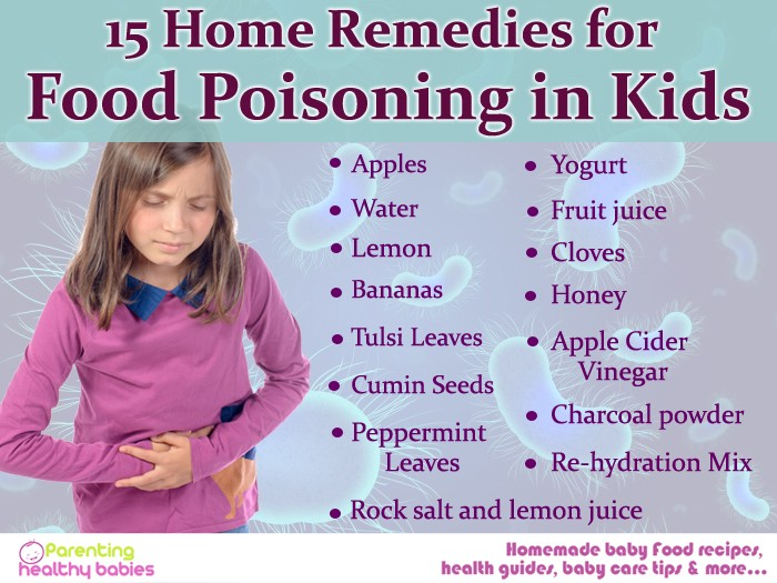 11 Home Remedies To Treat Food Poisoning In Children