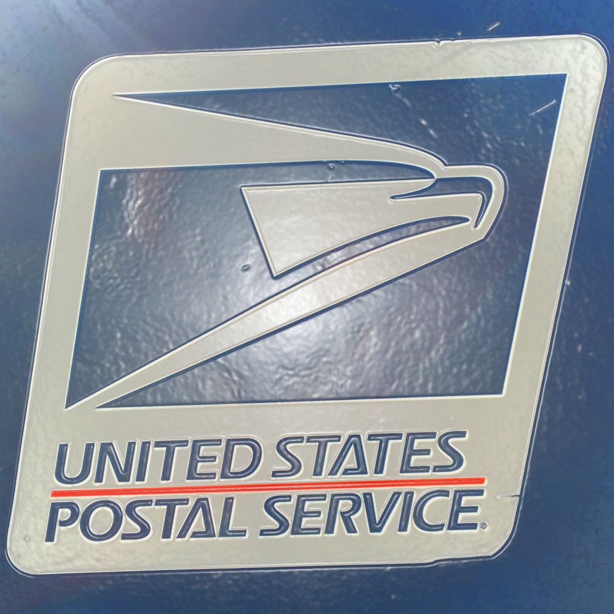 The blue mailbox piece of string medium the usps logo as of the agencys founding in 1971 photo by graham bosch buycottarizona