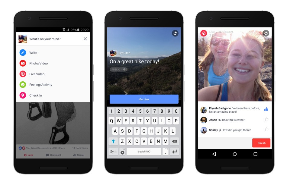 How to use a live photo on facebook