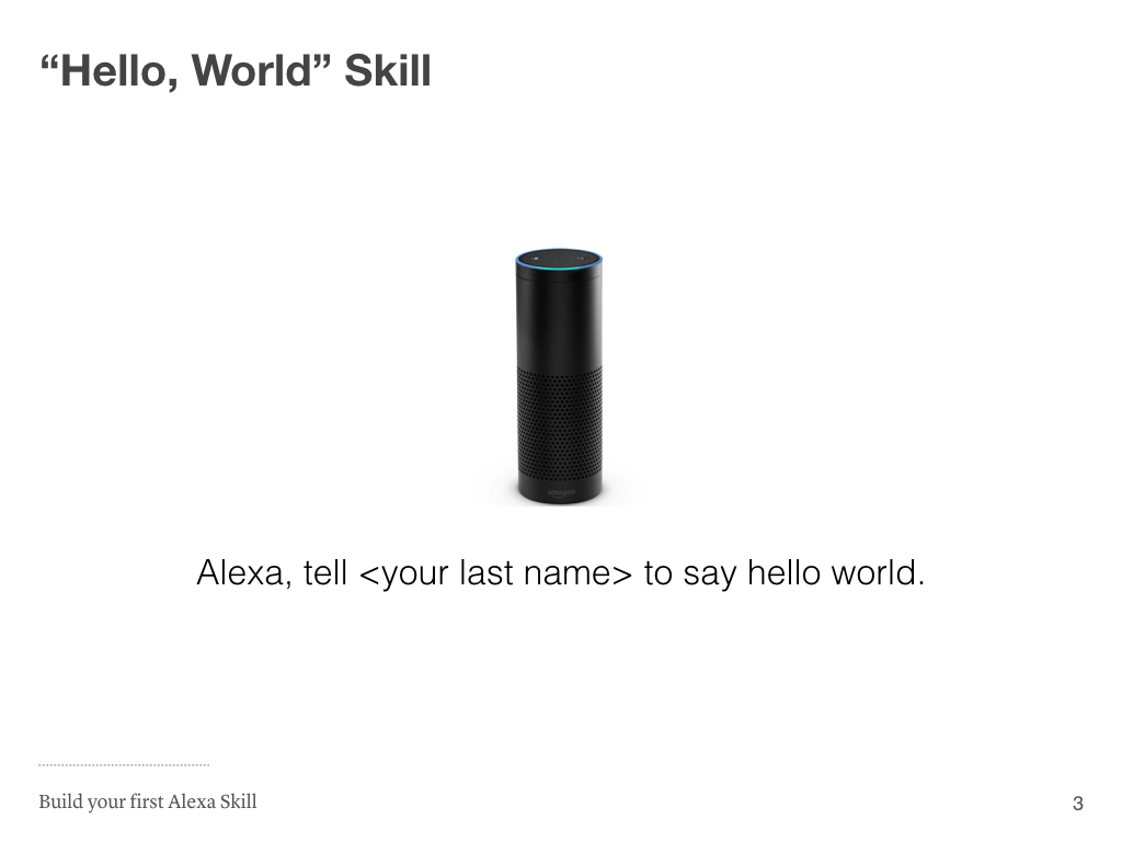 amazon alexa skill tutorial example hack guides hello world skill