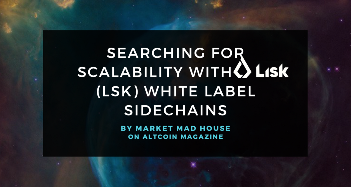 Searching for scalability with <bold>Lisk</bold> (LSK) White Label Sidechains