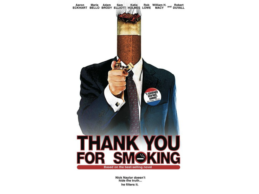 Afbeeldingsresultaat voor Thank you for smoking'