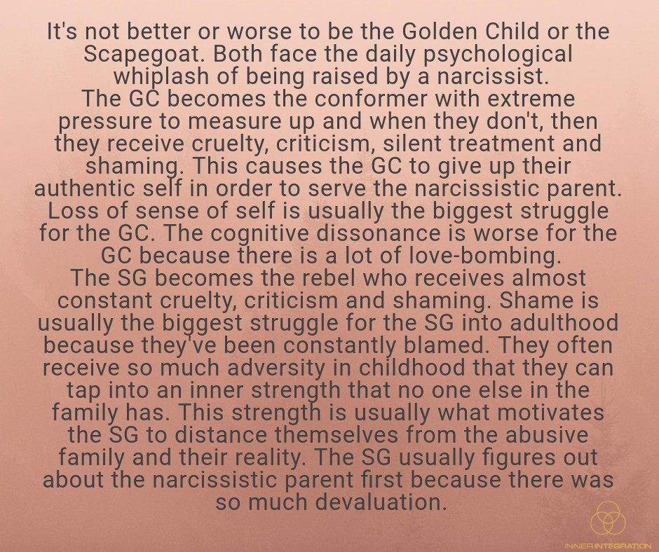 The Narcissistic Parent Of Special >> Scapegoat Golden Child How And Why Narcissists Assign These