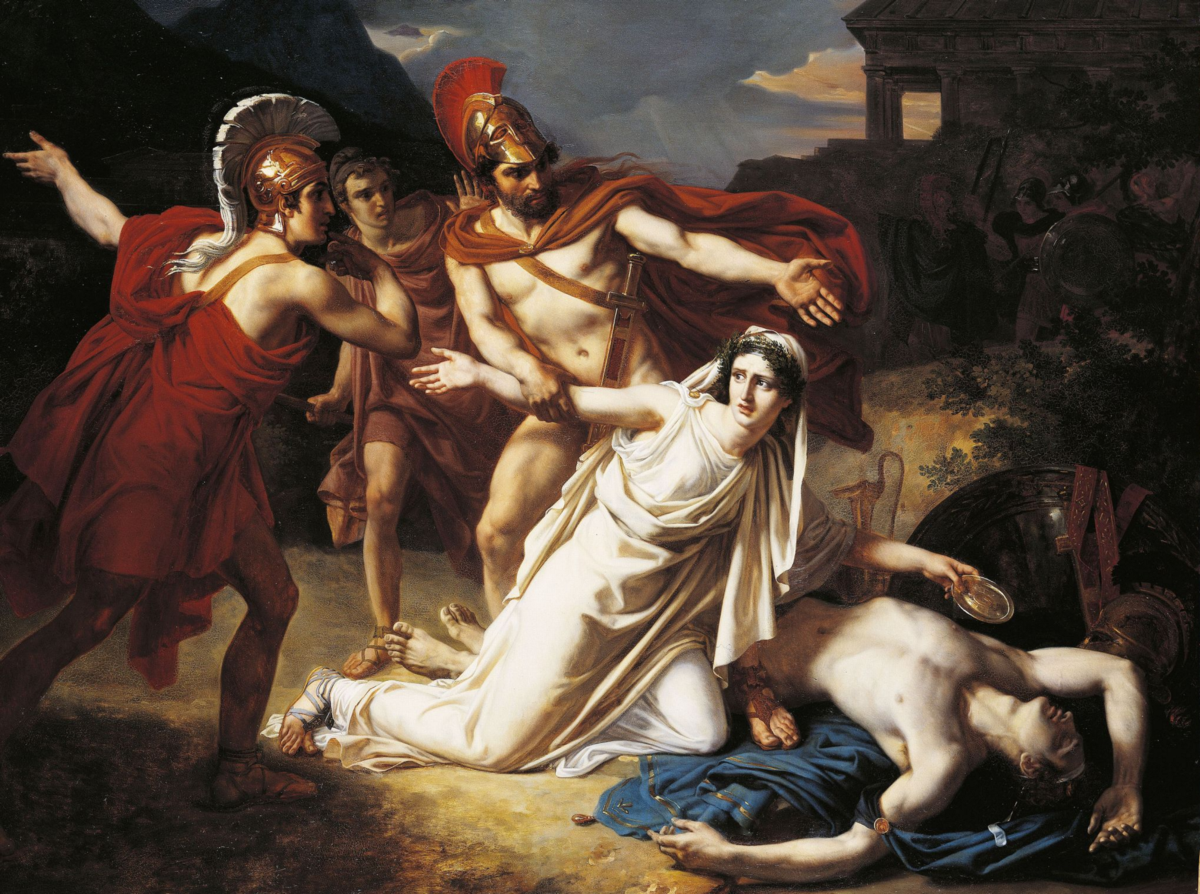 the role of faith in the play antigone That is the role given to her in the play  creon wins the debate in one way by destroying antigone's faith in her brother and religion.