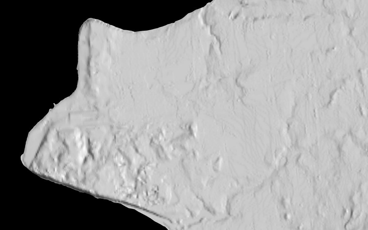 the image on the left shows an elevation map of anchorage alaska produced with the current national elevation dataset the image on the left shows the same