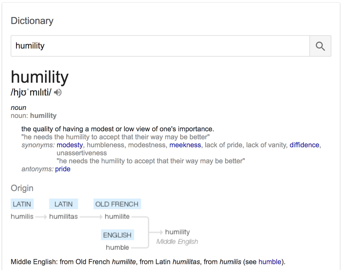 Humility Definition