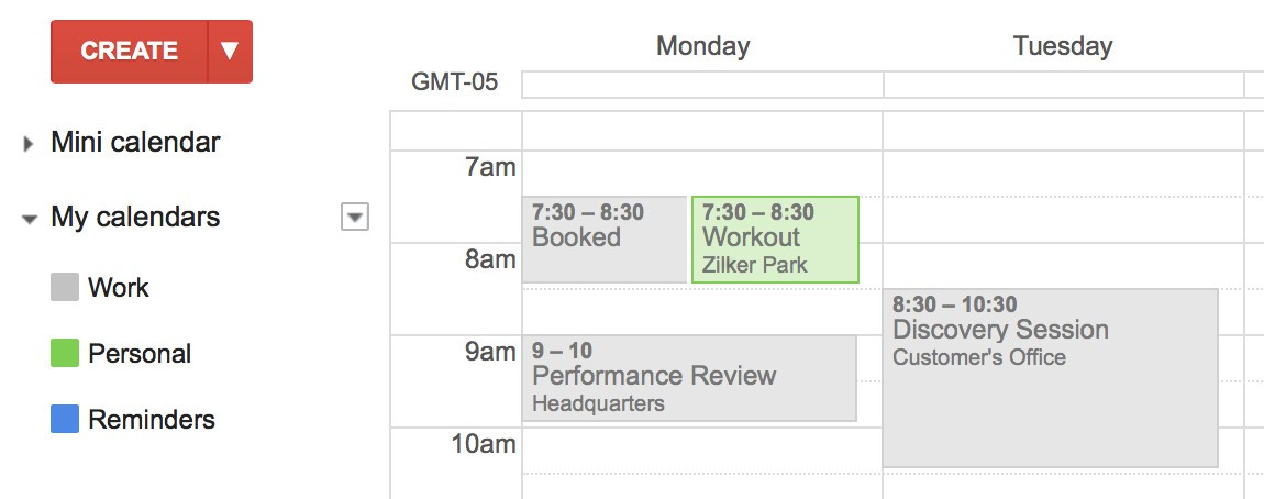 Auto Block Time On Your Work Google Calendar For Your Personal Events