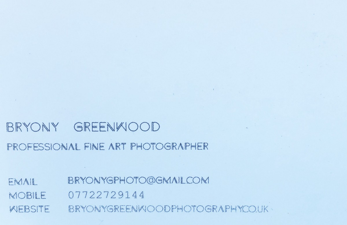 Self promotion business cards cont bryony greenwood medium back view reheart Image collections