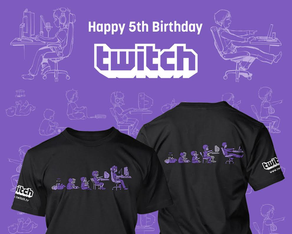 The Twitch 5th Birthday Shirt Is Here Blog