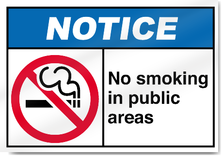 smoking must be banned from all public The healthy people 2020 target of enacting smoke-free indoor air laws that prohibit smoking in public places and worksites in all 50 states and dc can be achieved if such laws continue to be adopted at the current pace, and activities are intensified in southern states.