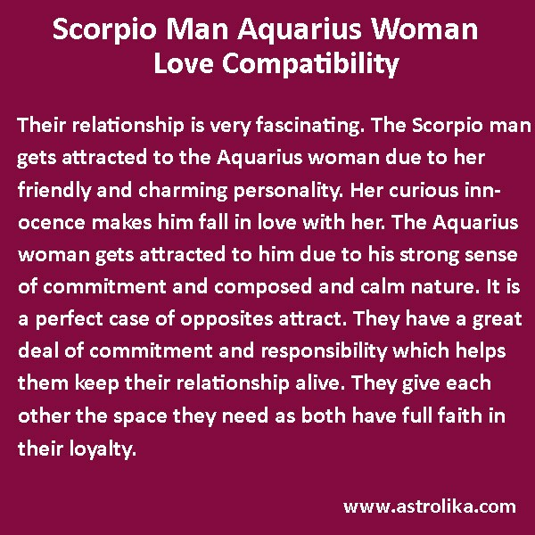 How compatible are aquarius and scorpio