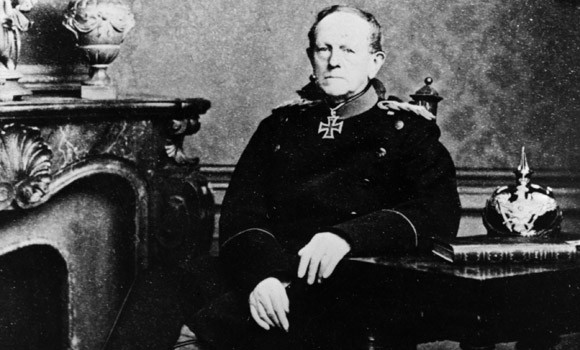 That is a photo of Helmuth von Moltke the Elder. He was the Chief of Staff of the Prussian army before World War 1.