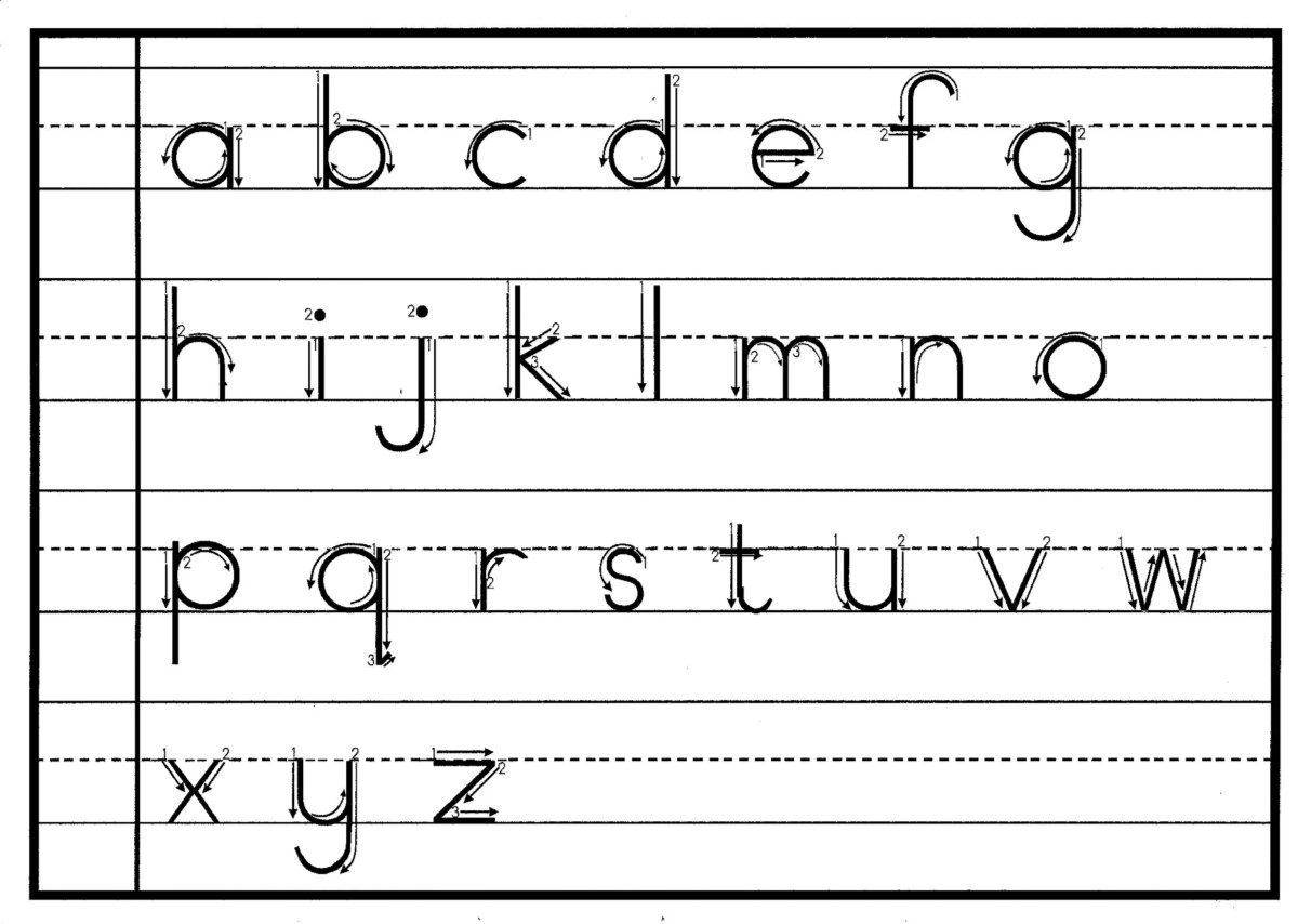 Alphabet On Lined Paper  Lined Chart Paper