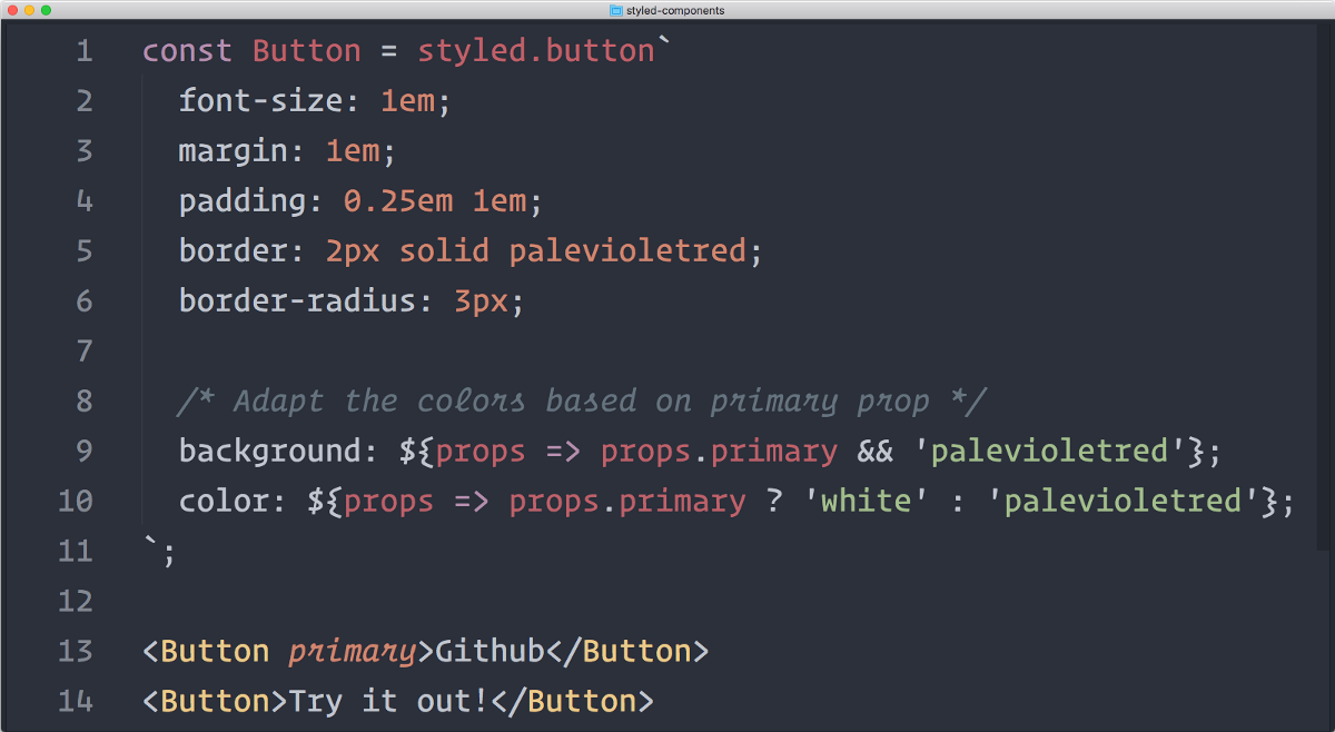 A 5-minute Intro to Styled Components