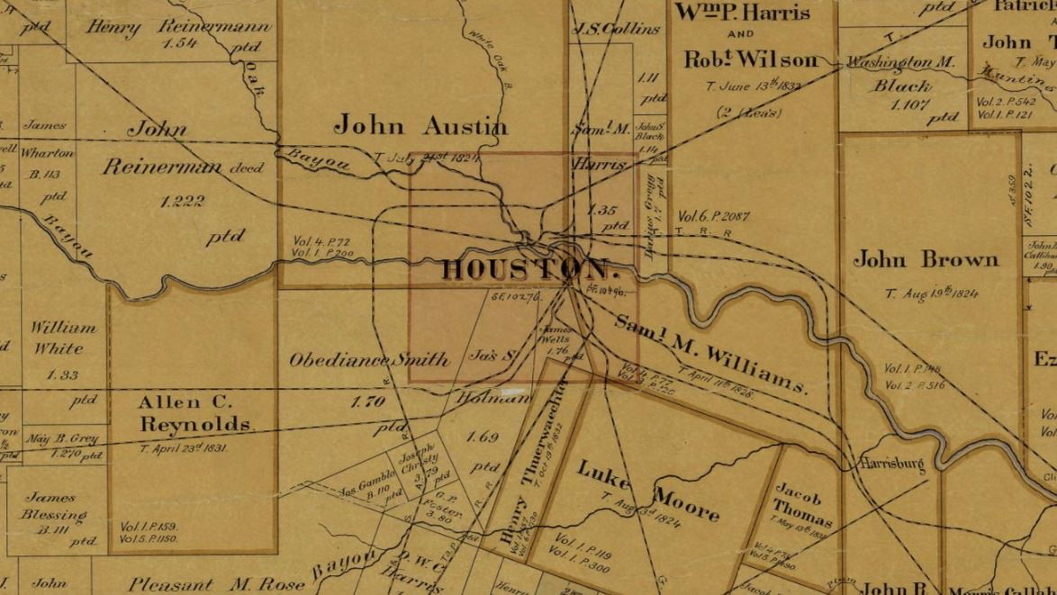 left Detail of the Houston and Texas