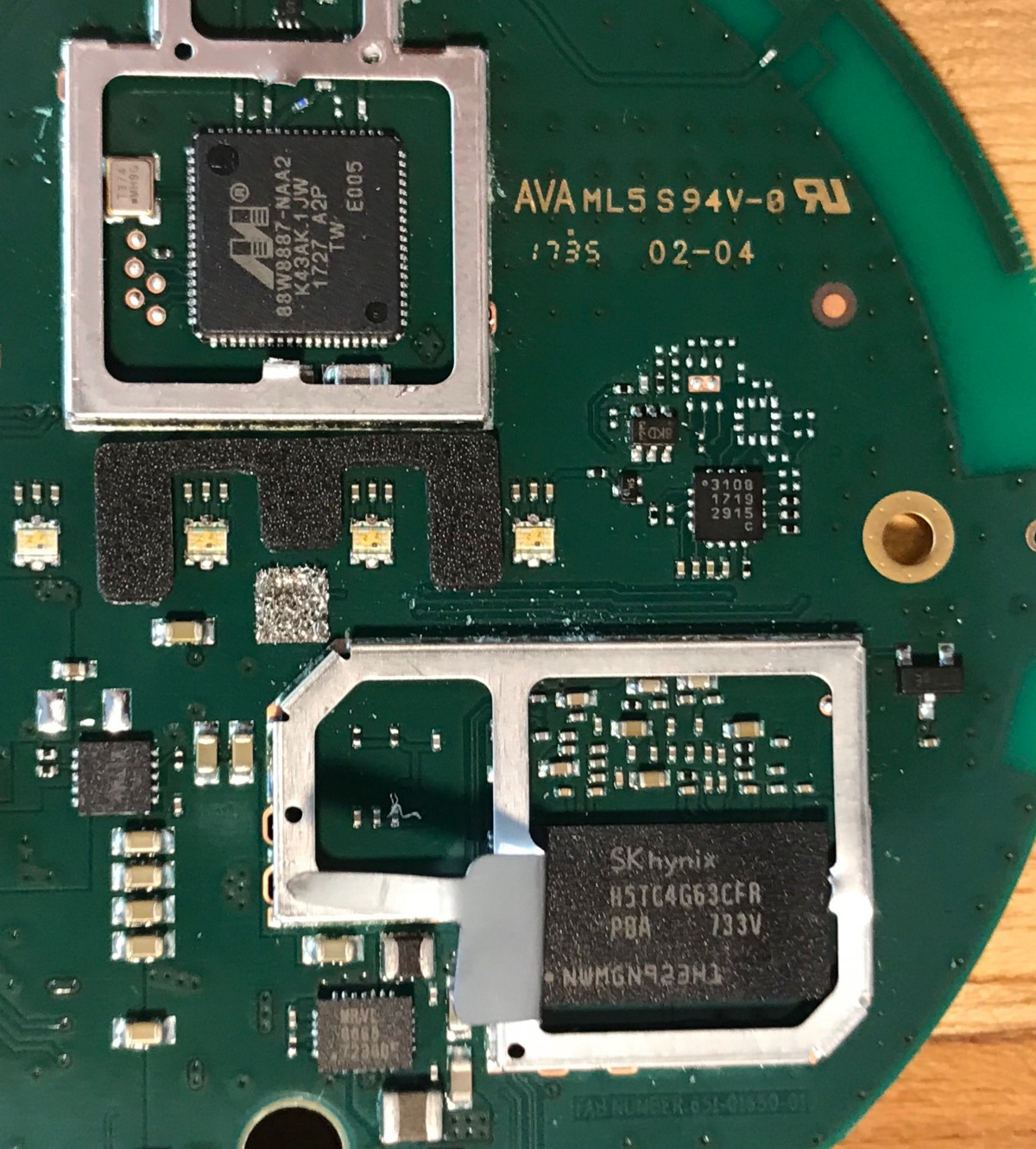 Google Home Mini Teardown Comparison To Echo Dot And Giving Circuit Can Be Used As A Standalone Voice Recorder View No Long Term Harm Here The Shield Covers Will Still Protect From Any Noise Once Replaced