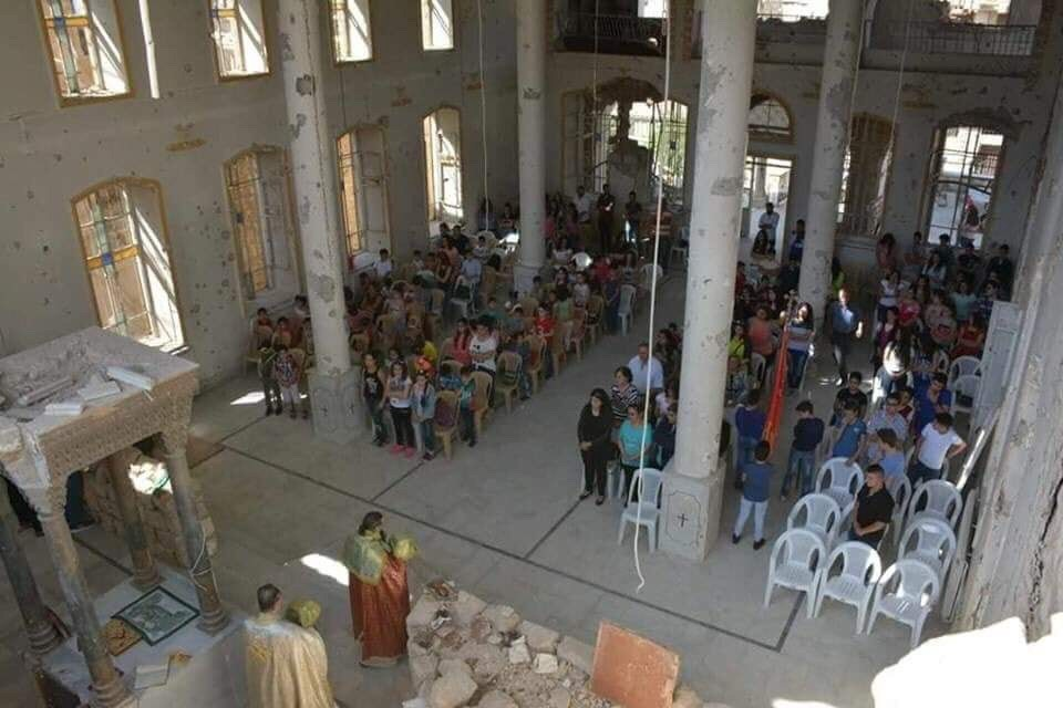 Christians In Syria's Zabadani Gather For Their First Mass In Years