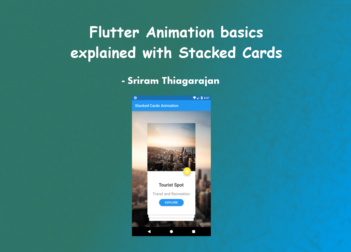 flutter animation basics explained with stacked cards