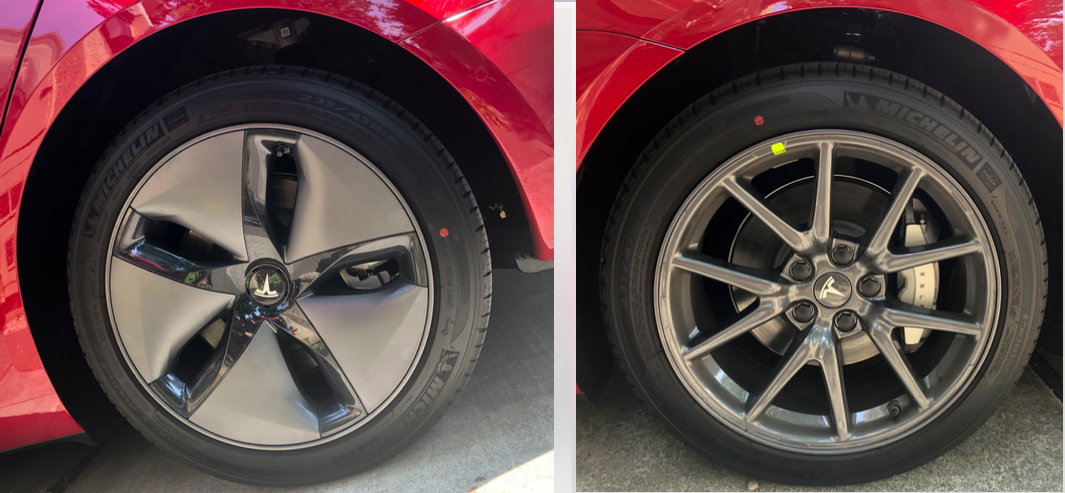 Model 3 Aero Wheels Without Wheelcover Vs Caps