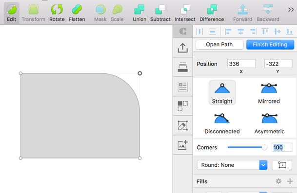 Create A Rectangle Click On Edit And Then Select The Individual Corner Provide Diffe Values For Corners