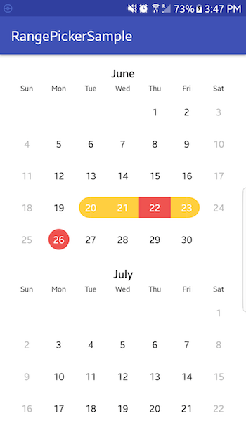 Android Calendarview Select Multiple Dates Github
