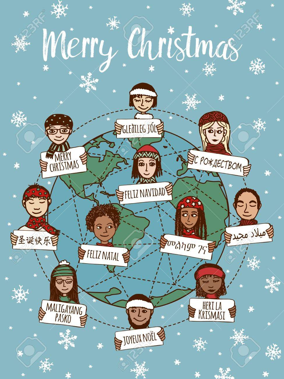 Merry Christmas Different Languages.Merry Christmas In 76 Different Languages Cole