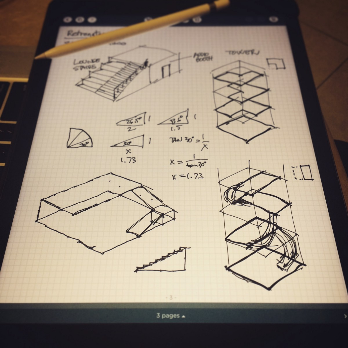 Ipad pro and apple pencil are not only a complete replacement for drawing sketching taking notes drawing diagrams designing algorithms theyre a true