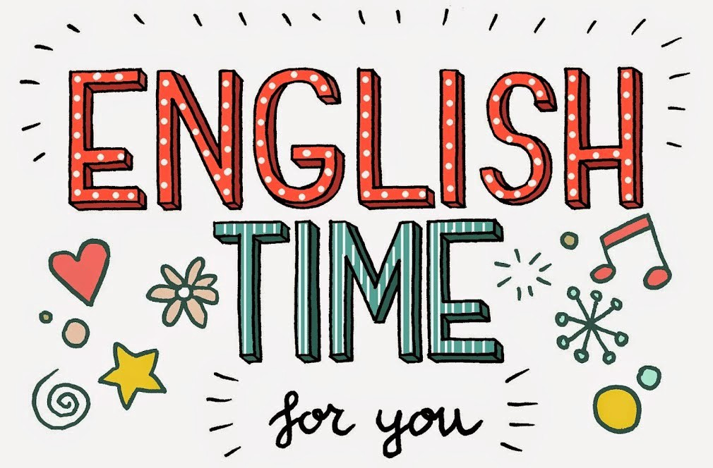 a sign saying english time