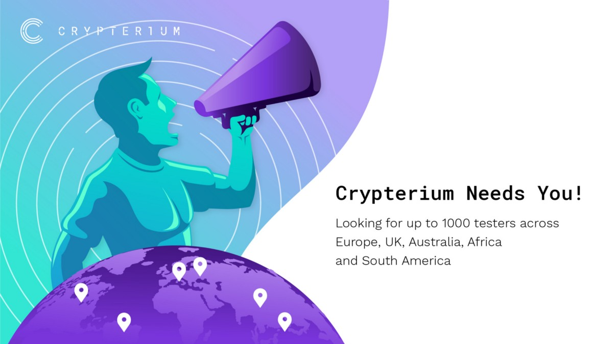 Crypterium needs you! We are looking for up to 1000 testers