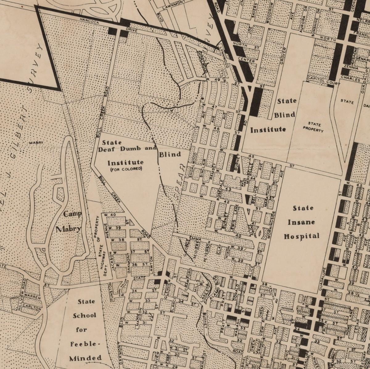 City of Austin Texas Use District Map 1939 By Austin Chamber of