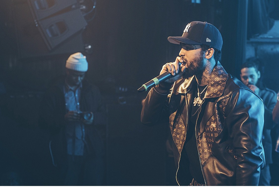 Dave East truly embodies New York rap to the tee. His wardrobe cut straight  out of a music video of the late 90s  Leather Jacket 382f15930b6