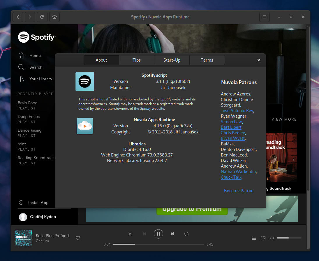 Nuvola 4.16 Brings Libre.FM Scrobbling, Ivoox Service, and more