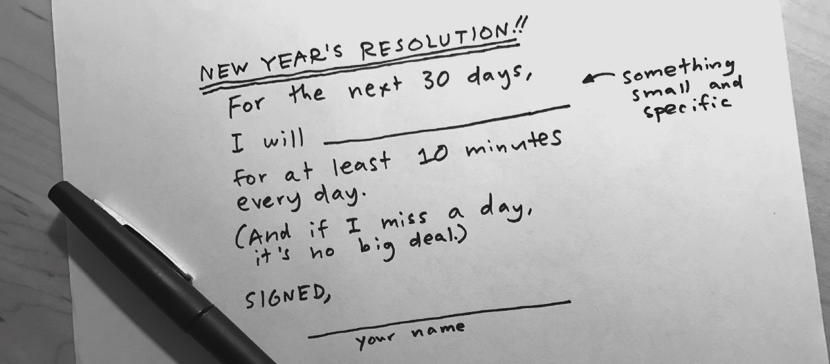 The Slacker\'s Guide to New Year\'s Resolutions That Stick