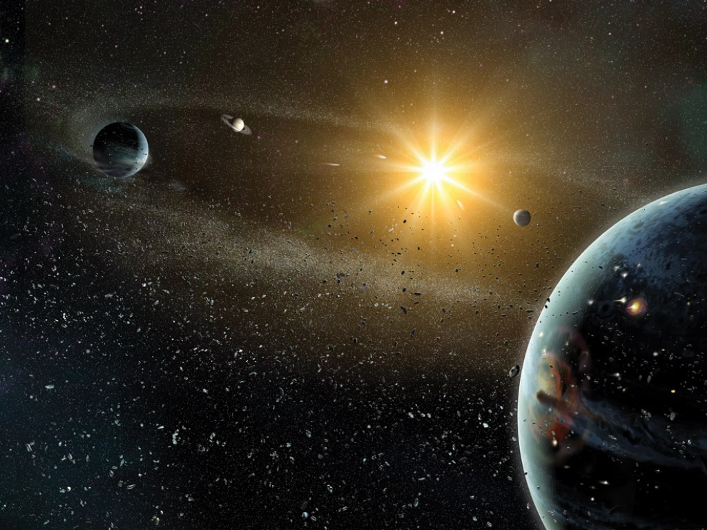 the theories about the moons origin and creation This creation myth they therefore advanced theories in which the universe was expanding at the in order to understand the origin of the universe.