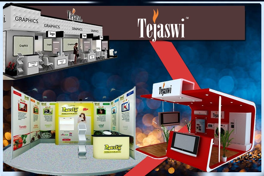 Exhibition Booth Animation : Brand exhibition booth stand template used stock illustration