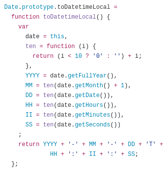 javascript convert date to iso 8601 string