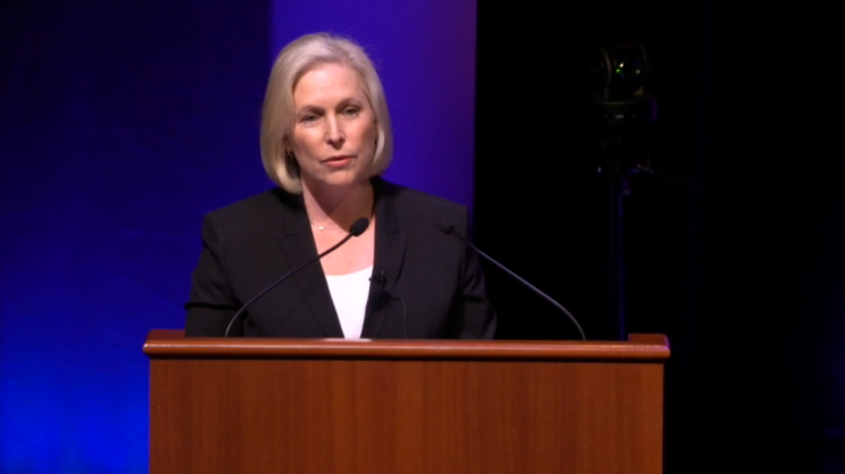 Image: US Senator Kirsten Gillibrand of the Democratic Party.