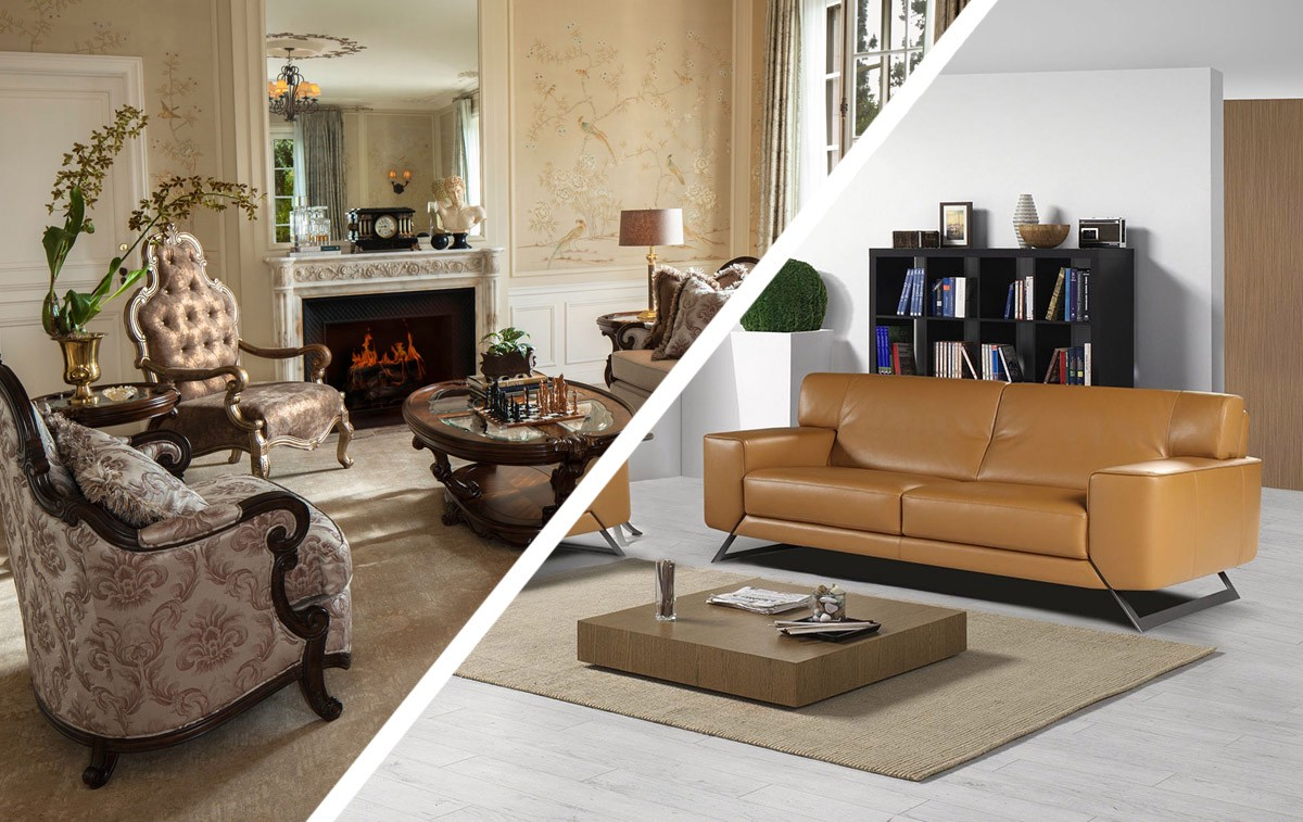 Modern furniture vs traditional interior design Traditional vs contemporary design