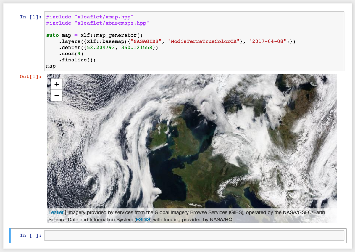 Language In 45 And 47 Stella Street: Interpreted C++ For GIS With Jupyter