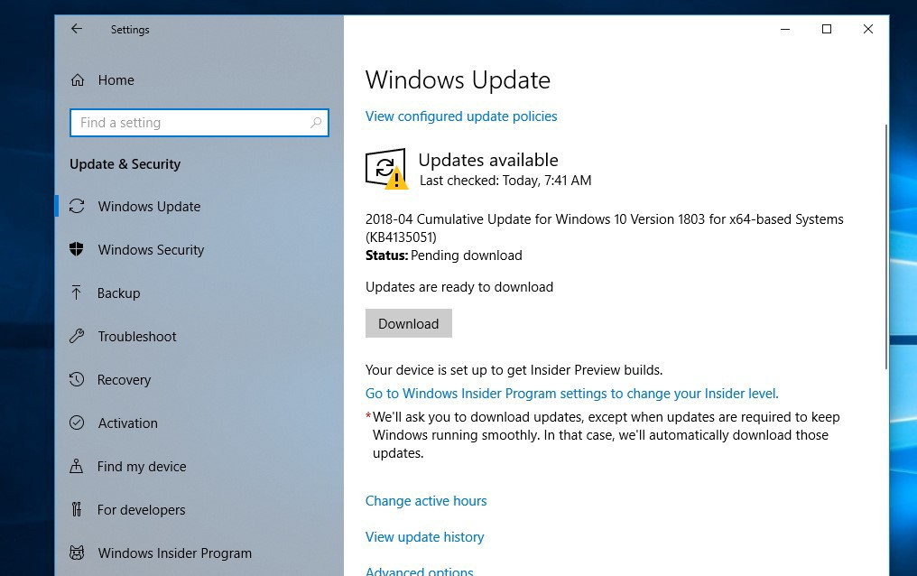october 2018 windows 10 update