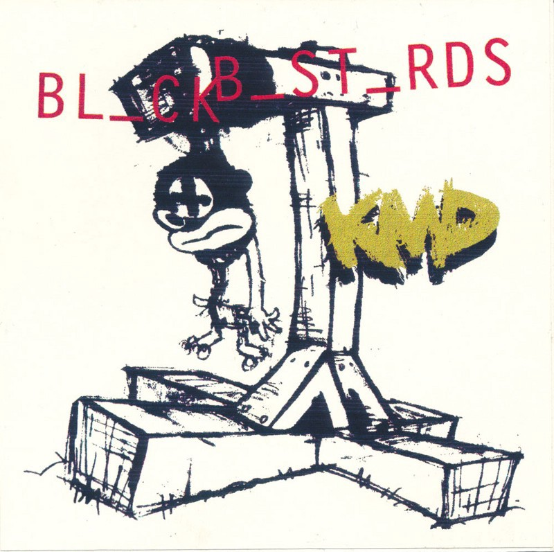 """Printout of original Black Bastards artwork (Courtesy of Adler Hip-Hop Archives / Cornell University Hip-Hop Collection) and commercially-released """"What A ..."""
