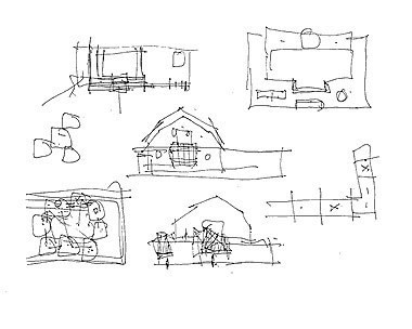Sketches Of Frank Gehry S House In Santa Monica California