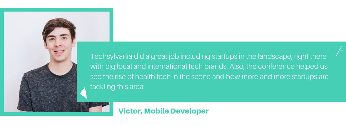 Victor, mobile developer at Wolfpack Digital about Techsylvania 2019