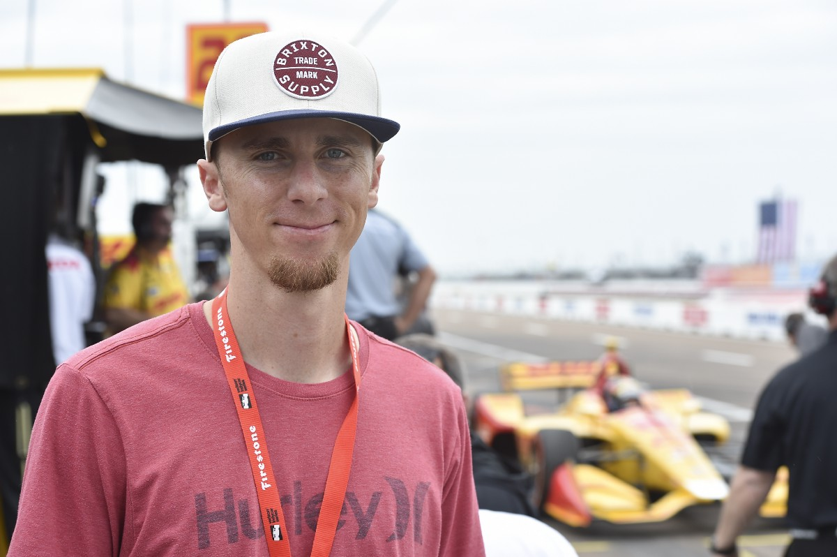 Matt Duffy hung out at INDYCAR qualifying